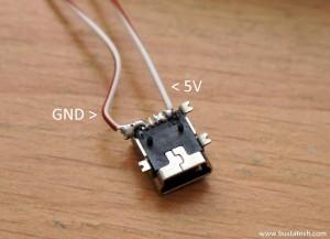 DIY USB Led d'aquarium - Branchement USB